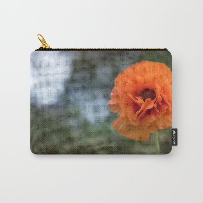 Enlightened Poppy - Poppies Flowers Flower on #Society6 Carry-All Pouch