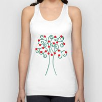 christmas tree Tank Tops featuring Christmas Tree by Pippi Dust