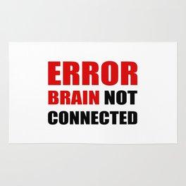ERROR brain not connected Rug