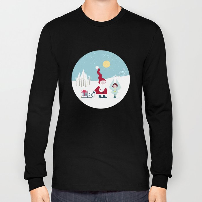 Santa and the little Angel Long Sleeve T-shirt