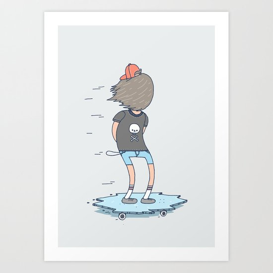 Skating On Thin Ice Art Print