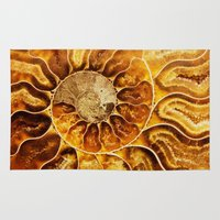 minerals Area & Throw Rugs featuring AMAZING AMMONITE by Catspaws