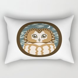 Northern Saw-whet Owl Rectangular Pillow