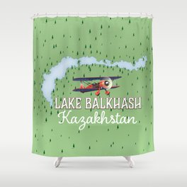 Lake Balkhash Kazakhstan Shower Curtain