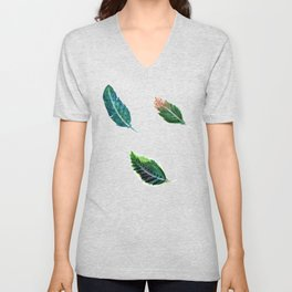 Watercolor Tribal Feathers Unisex V-Neck