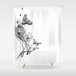 Chord of Crinoids Shower Curtain