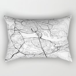 Stockholm Map White Rectangular Pillow