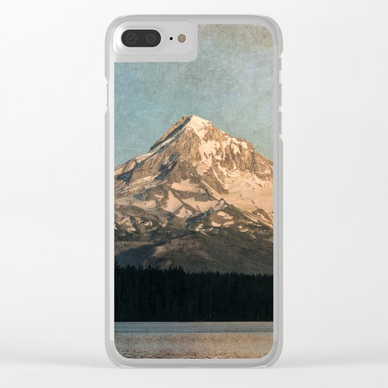 Happy Mountain :) Clear iPhone Case
