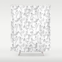 Flying Cats Shower Curtain