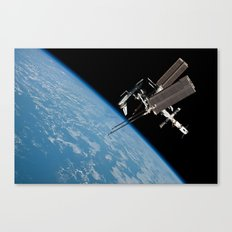 The International Space Station and the Docked Space Shuttle Endeavour Canvas Print