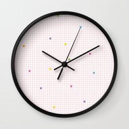 Checked Pattern_O Wall Clock