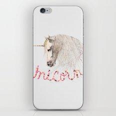 Pink Unicorn iPhone & iPod Skin