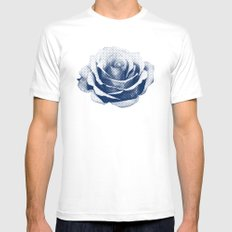 HALFTONE ROSE MEDIUM White Mens Fitted Tee