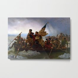 Emanuel Leutze - Washington Crossing the Delaware Metal Print