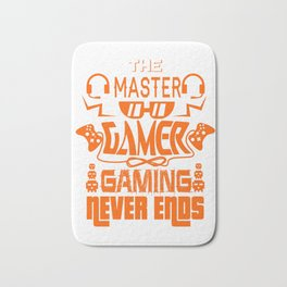 Gaming Master Online Gamer Video Game Fan Gift Idea Bath Mat