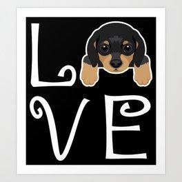 Dachshund Love Art Print