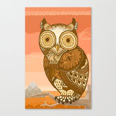 Owlie in Autumn Canvas Print