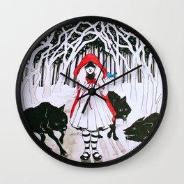 Amongst Wolves Wall Clock