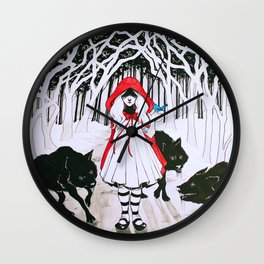 Amongst Wolves Wall Clock