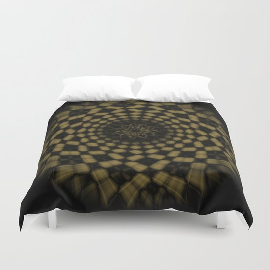 Golden Funnel Duvet Cover
