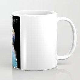 Colorful Glass Parrot Coffee Mug