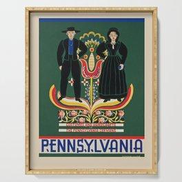 Vintage poster - Pennsylvania Serving Tray