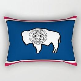 Wyoming State Flag Rectangular Pillow