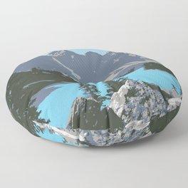 Moraine Lake- A Mountain Landscape Dream Floor Pillow
