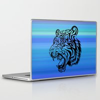 fierce Laptop & iPad Skins featuring Fierce Tiger by MaNia Creations