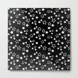 White stars pattern Metal Print
