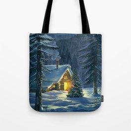 Christmas Snow Landscape Tote Bag