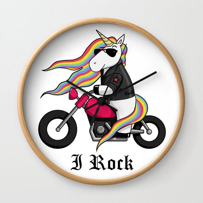 Rock'N Unicorn Wall Clock