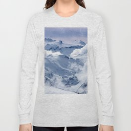 Snowy Mountains and Glaciers Long Sleeve T-shirt