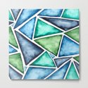 Large scale fragmentation. Watercolor triangles. by annaalexeeva