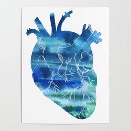 Oceanic Heart Poster