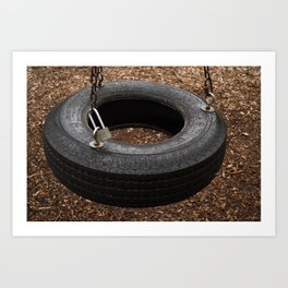The Lonely Tire Art Print
