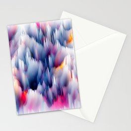 Abstract Colorful Waves Stationery Cards
