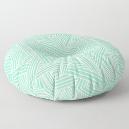Sketchy Abstract (White & Mint Pattern) Floor Pillow