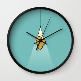 Creamy Light Wall Clock