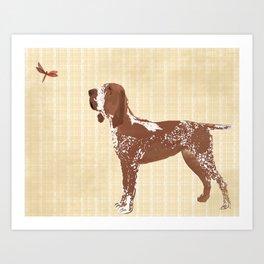 Bracco Italiano Dog Art Print