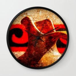 Ancient Greek Ceramic Pottery Wall Clock