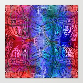 Taino Abstractions - Damian Caracaracoli Canvas Print