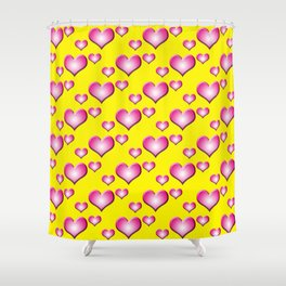 herzen collage Shower Curtain