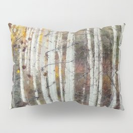 Northern Birch Forest Painting Pillow Sham