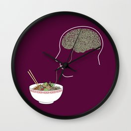 Noodle Brain Wall Clock