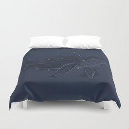 Spacial Whale Duvet Cover