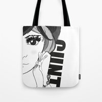cunt Tote Bags featuring Cunt by Domenico Principato