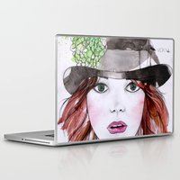 emma stone Laptop & iPad Skins featuring Emma Stone by Vicky Ink.