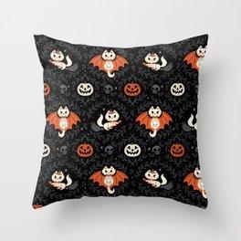 Spooky Kittens Throw Pillow