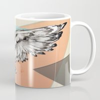 mcfly Mugs featuring Owl McFly by carographic by carographic portrait paintings